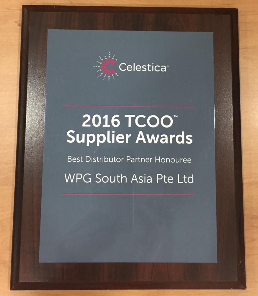 2016 TCOO Supplier Awards. Best Distributor Partner Honouree