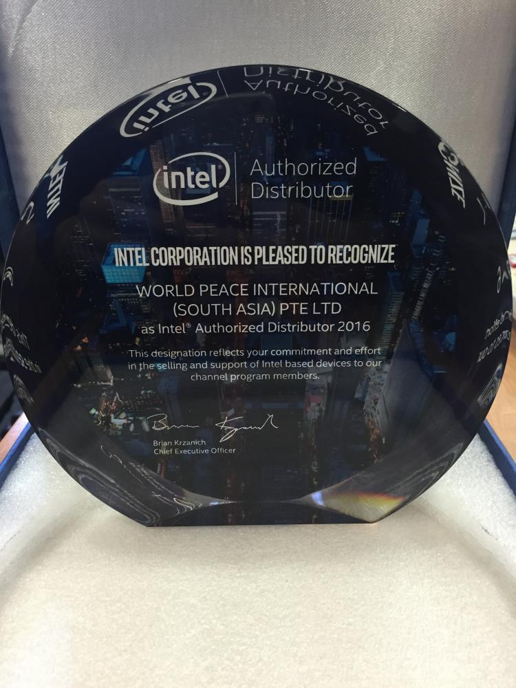 Recognize as Intel Authorized Distributor 2016
