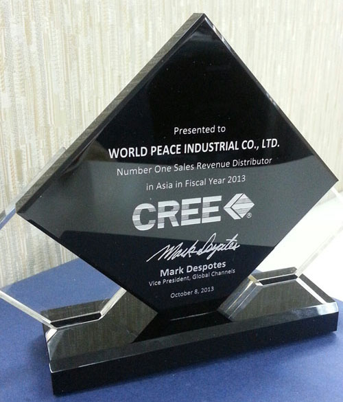 Number one sales revenue distributor in ASIA Fiscal 2013