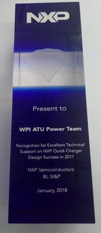Recognition for Excellent Technical Support on NXP Quick Charge Design Success in 2017