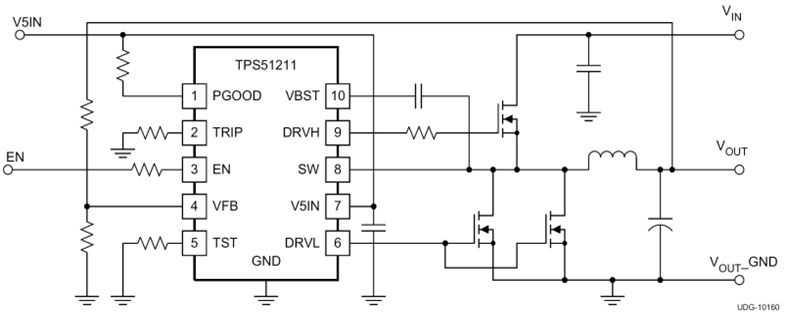 TPS51211  High-Performance, Single Synchronous Step-Down Controller