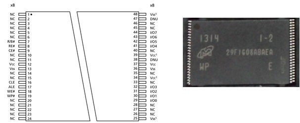MT29F1G08ABAEAWP:E SLC NAND Flash