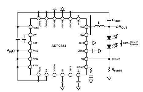 ADP2384 Synchronous Step-Down DC-to-DC Regulator