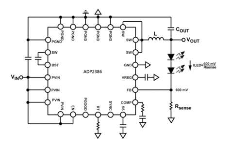 ADP2386 Synchronous Step-Down DC-to-DC Regulator