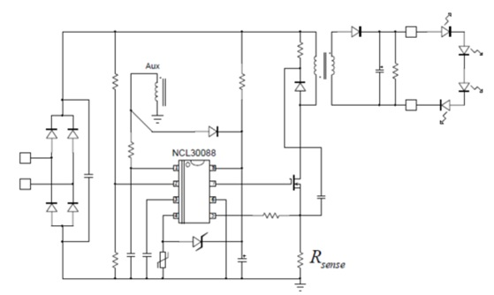 NCL30088 功率因子校正准谐振初级端电流模式控制器,用于LED照明