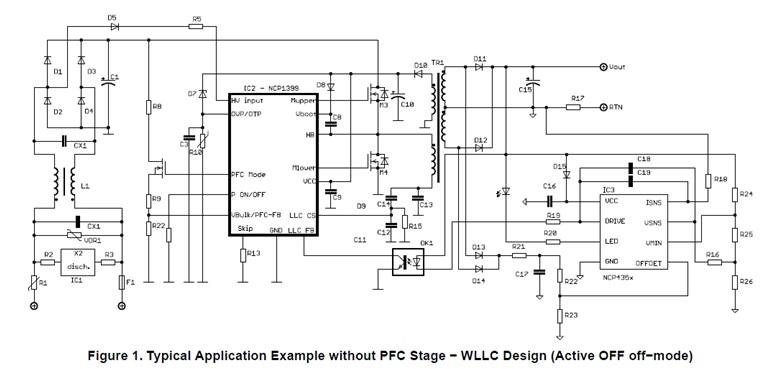 NCP1399 高性能电流模式谐振控制器,整合高压驱动器