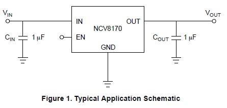 NCV8170 低壓降穩壓器(LDO)