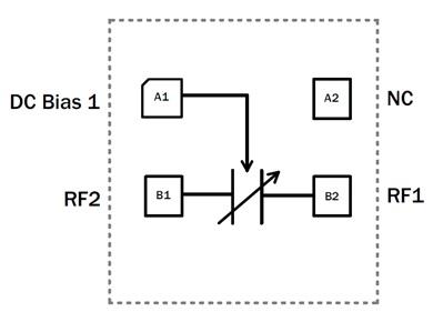 2.7 pF無源可調諧積體電路(PTIC) TCP4127