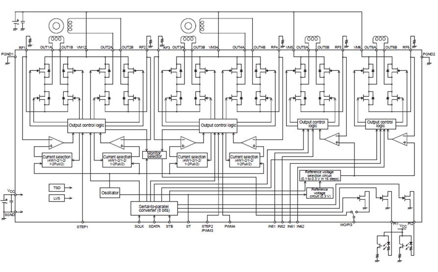 LV8044LP 6通道電機驅動器