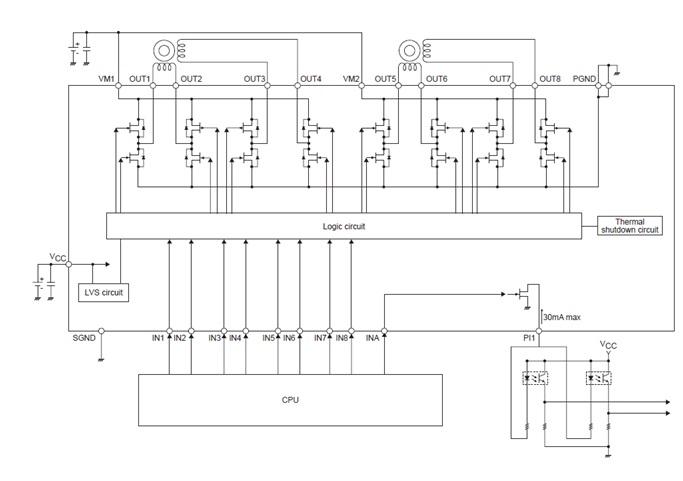 LV8411GR 4信道步进电机驱动器