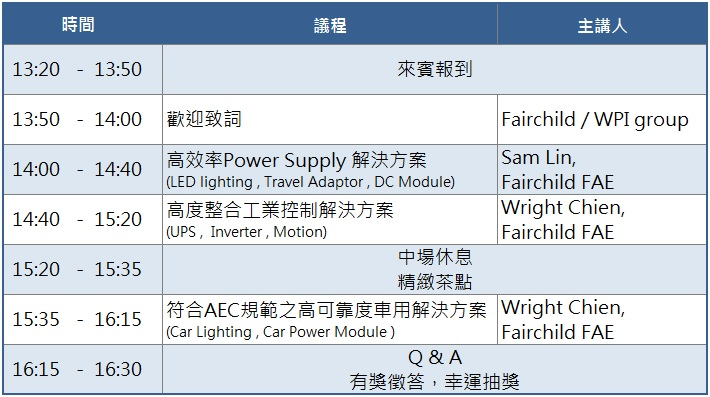 Fairchild Power seminar_20150909_agenda