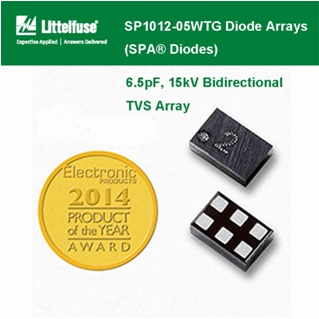 Littelfuse - SP1012 Series Diode Arrays , 6.5pF, 15kV Bidirectional TVS Array