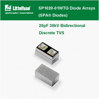 Littelfuse - SP1020 Series Diode Arrays , 20pF 30kV Bidirectional Discrete TVS