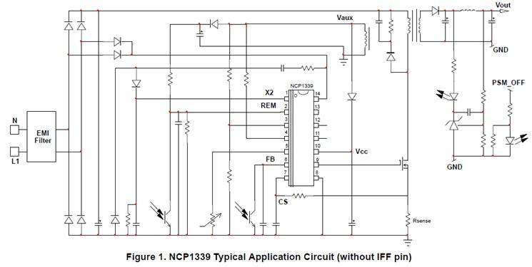 NCP1339 高压准谐振控制器