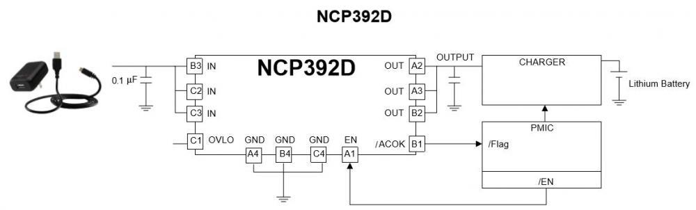 可调节的前端过压保护控制器 NCP392D
