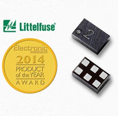 LITTELFUSE - SP1012 Series 6.5pF, 15kV Bidirectional TVS Array SP1012-05WTG