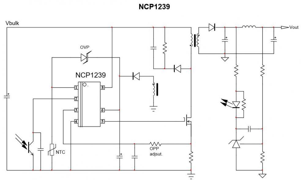固定頻率電流模式控制器用於反激式轉換器 NCP1239