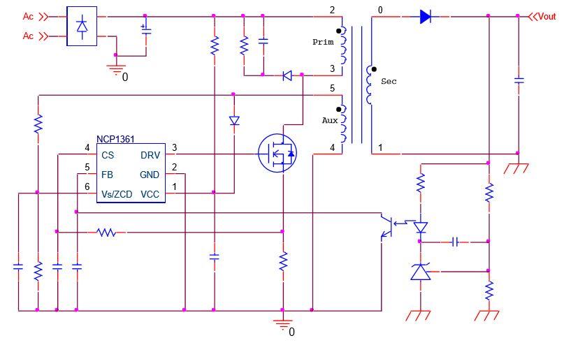 低功率脱机恒流PWM电流模式控制器 NCP1361/6