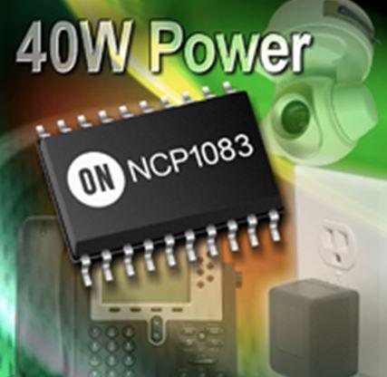 40 W集成PoE-PD和DC-DC转换器控制器 (支持辅助电源) NCP1083
