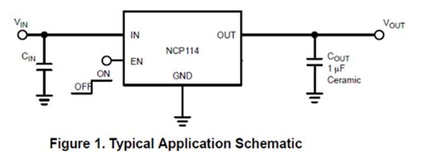 300 mA CMOS 低壓降穩壓器 NCP114