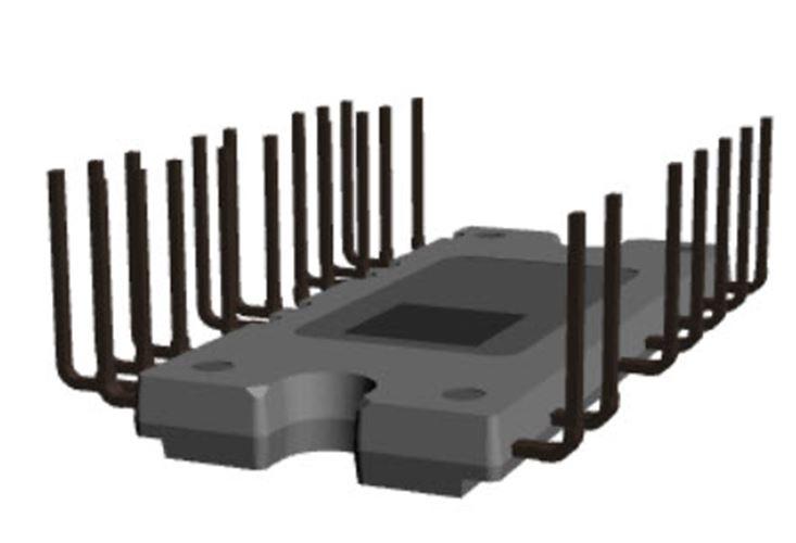 Motion SPM 8®系列中的一款智能功率模組(IPM) FNB81060T3