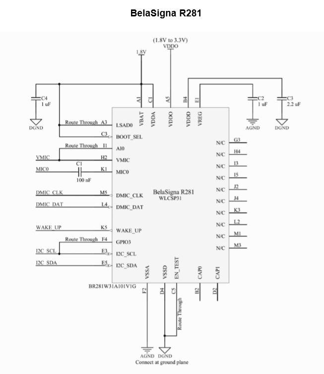 一直听语音触发方案 BelaSigna® R281