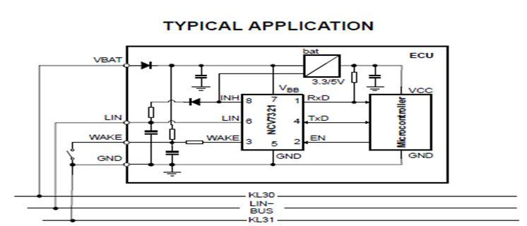 獨立的LIN收發器 NCV7321