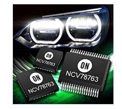 用於汽車前照燈的電源鎮流器及LED驅動器 NCV78763