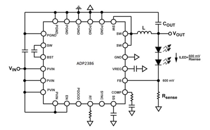 Synchronous Step-Down DC-to-DC Regulator ADP2386
