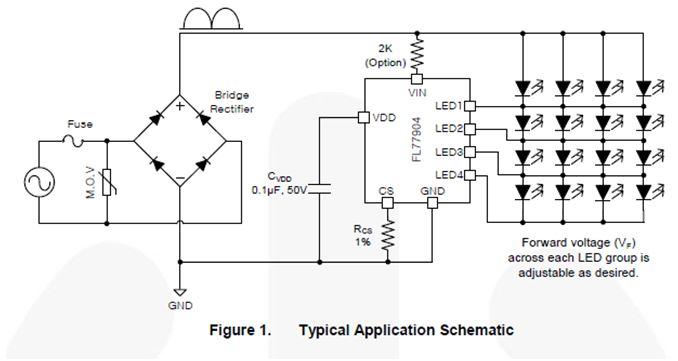 相切可調光緊湊型 LED 交流直接驅動器 FL77904