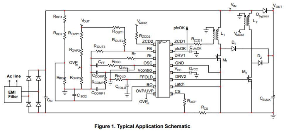 交錯式兩相電源因子控制器 NCP1632