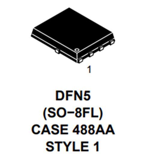 單N溝道功率MOSFET 80V,203A,2.1mΩ NTMFS6H800N
