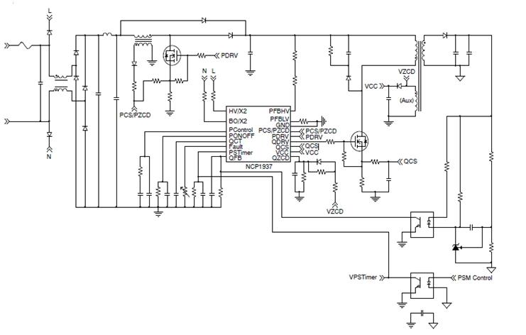 NCP1937 功率因數校正及准諧振反激組合控制器