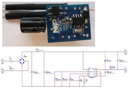 非調光非隔離產品樣機:SSL21081