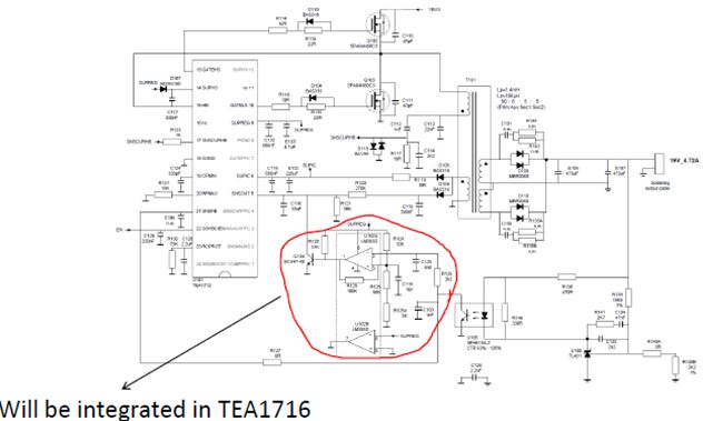 TEA1716T schematic: