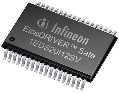 1EDS20I12SV EiceDRIVER™ 驅動器元件應用範圍廣泛,可在高達 1200V 隔離電壓的應用中提供高系統效率。
