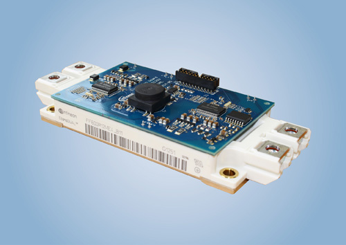 相較於不含轉換速率控制的傳統驅動器元件,1EDS-SRC EiceDRIVER™ Safe 可節省約 30% 的開關損耗。1EDS-SRC EiceDRIVER Safe 搭配英飛凌 EconoDUAL™ 3 可提供最佳結果。