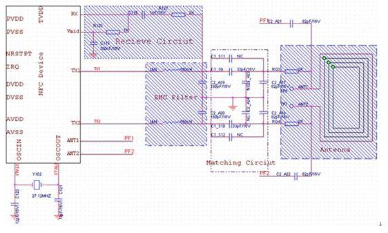 NFC射頻部分電路: