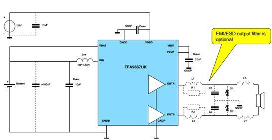 TFA9887 硬體電路框圖 :