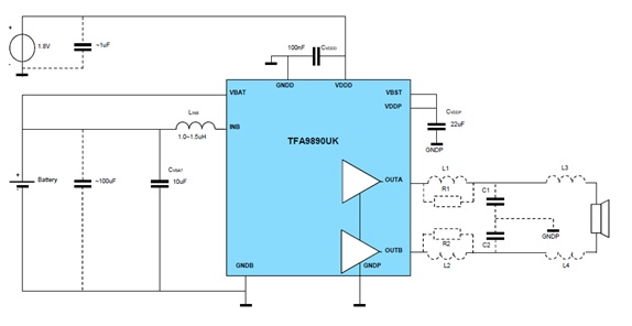 tfa9897硬件电路框图