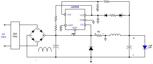 Application circuit by Buck topology