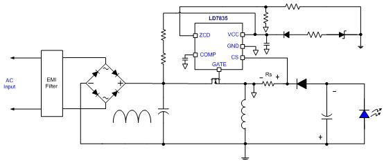 Application circuit by Buck Boost topology