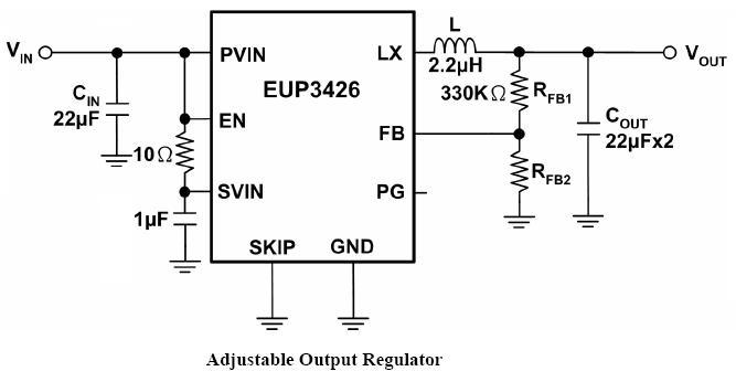 EUTech-3A同步降壓型直流-直流變換器- EUP3426