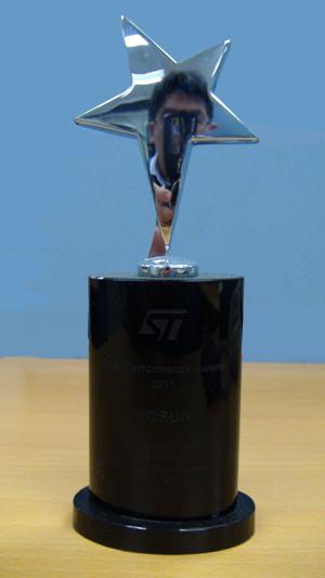 2011年STM意法半导体大中国区及南亚区年度最佳代理商