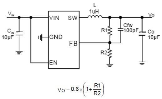 Diodes : 具有3MH開關頻率及1A輸出電流的同步降壓直流-直流轉換器---PAM2304