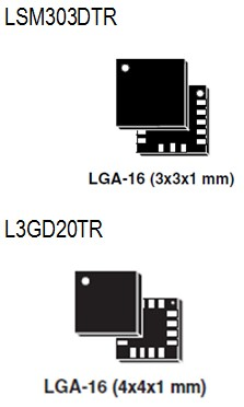 ST Win8 Sensor Hub-LSM303DTR/L3GD20TR