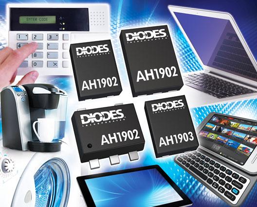Diodes AH1902及AH1903霍爾開關有效提升電路檢測性能