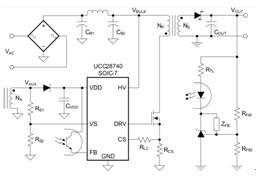 TI低功率 QR Flyback PWM Controller_ UCC28740