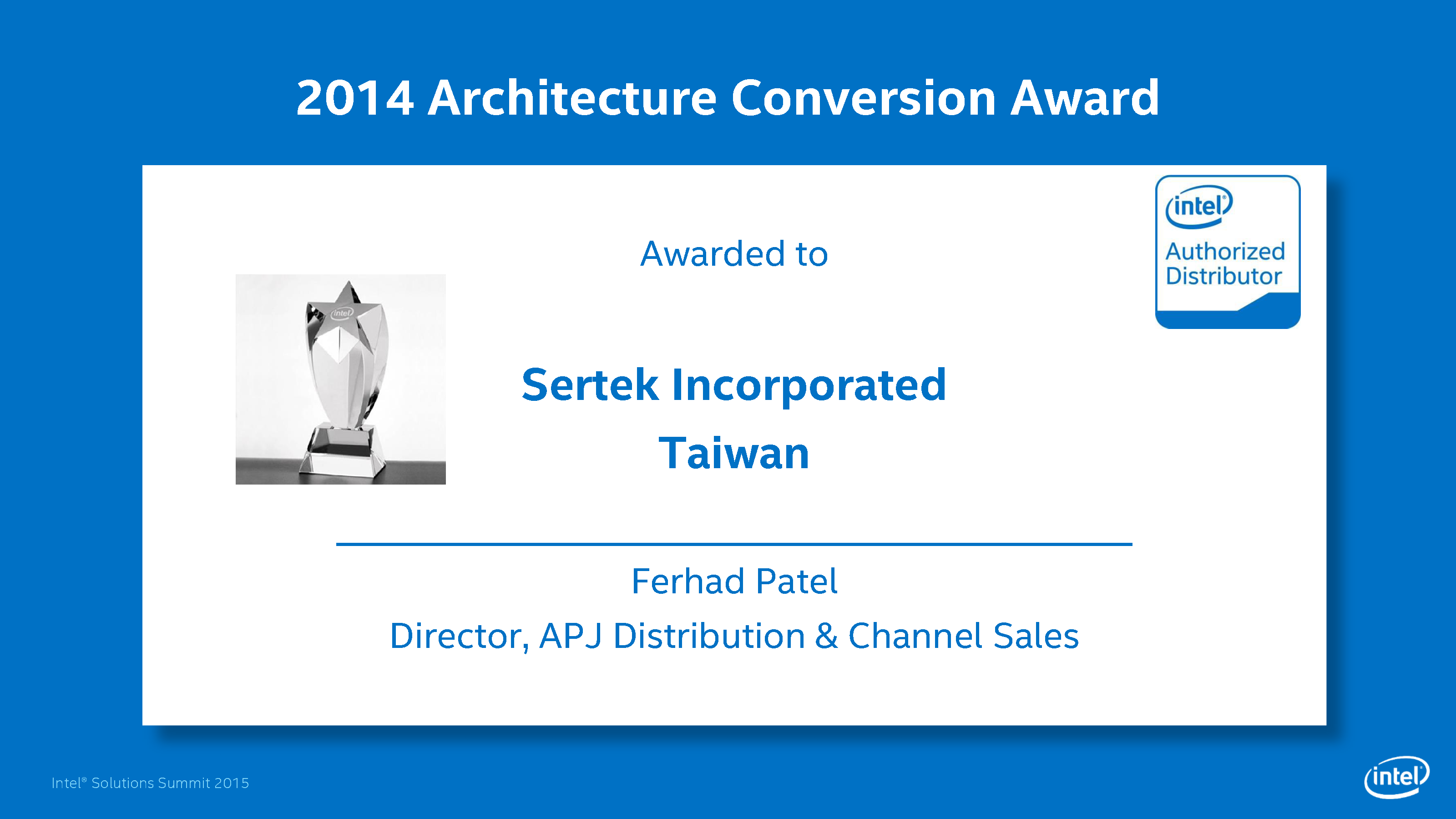 2014 Architecture Conversion Award