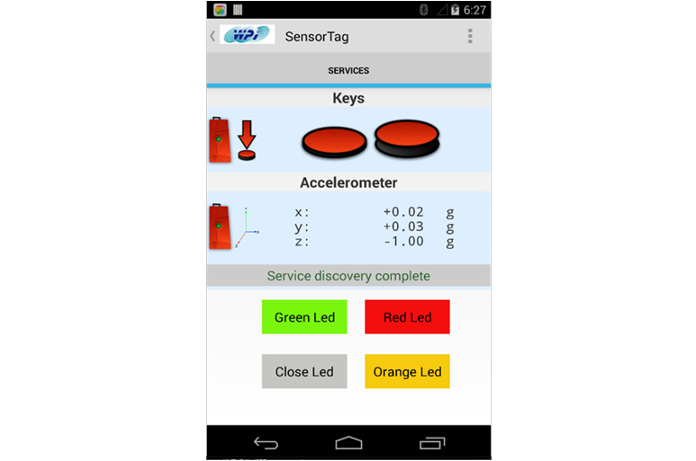 Nexus4 通過 BLE 讀取 CC2541 上 Gsensor 的資料